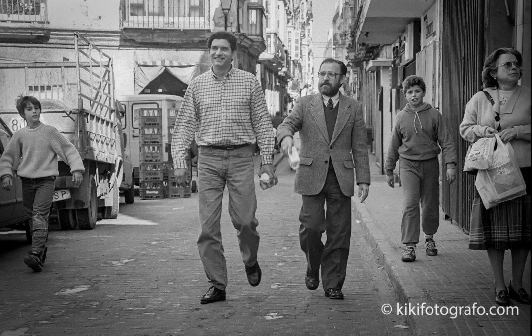 FEBRERO 1988 CARLOS CANO Y ANTONIO BURGOS, POR  EL MENTIDERO.