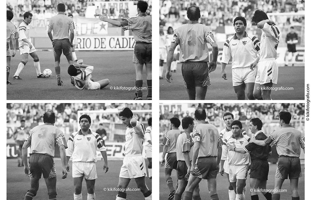 21/03/93  BRONCA ENTRE CARMELO Y MARADONA